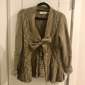 Anthropologie Sparrow Cable Knot Wool Cardigan
